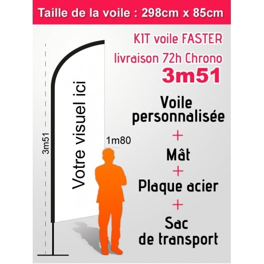 Voile FASTER 72 heures 3m51