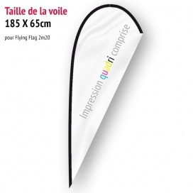 Voile pour Flying Flag 2m20 (voile seule)